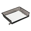 Rolodex Nestable Mesh Stacking Side Load Letter Tray, Wire, Black