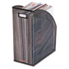 Rolodex Nestable Rolled Mesh Steel Jumbo Magazine File, 6 1/2 x 10 x 12 1/2, Black