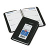 DayMinder Recycled Weekly Appointment Book, Black, 3 3/4