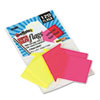 SeeNotes Transparent Film Arrow Flags, Neon Pink/YW, 60 Flags/Pad, 2 Pads/Pack