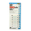 Side-Mount Self-Stick Plastic Index Tabs Nos 1-10, 1in, White, 104/Pack