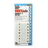 Side-Mount Self-Stick Plastic A-Z Index Tabs, 1in, White, 104/Pack