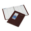 DayMinder Recycled Weekly Appointment Book, Burgundy, 8