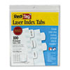 Laser Printable Index Tabs, 1 1/8 Inch, White, 100/Pack