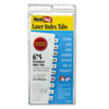 Laser Printable Index Tabs, 7/16 x 1, White, 675/Pack