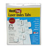 Laser Printable Index Tabs, 1 1/8 x 1 1/4, White, 375/Pack