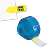 "Arrow Message Page Flags in Dispenser, ""Sign Here"", Yellow, 120 Flags/Dispenser"