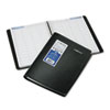 DayMinder Recycled Four-Person Group Daily Appointment Book, Black, 7 7/8