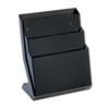Three-Pocket Desktop Stand, Plastic, 13 1/4 x 7 1/8 x 16, Smoke