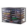12-Compartment Organizer with Mesh Drawers, 23 4/5&quot; x 15 9/10&quot; x 15 2/5&quot;, Black