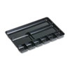 Regeneration Nine-Section Drawer Organizer, Plastic, Black