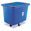 Recycling Cube Truck, Rectangular, Polyethylene, 500-lb cap, Blue