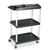 MediaMaster 3-Shelf AV Cart, 18-5/8w x 32-1/2d x 42-3/8h, Black