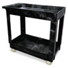 Service/Utility Cart, 2-Shelf, 16w x 34d x 31-1/4h, Black