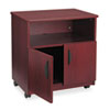 Laminate Machine Stand w/Open Compartment, 28-1/8w x 19-3/4d x 30-1/2h, Mahogany