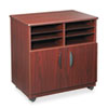 Laminate Machine Stand w/Sorter Compartments, 28w x 19-3/4d x 30-1/2h, Mahogany