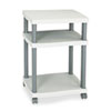 Wave Design Printer Stand, 3-Shelf, 20w x 17-1/2d x 29-1/4h, Charcoal Gray