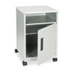 Steel Machine Stand w/Compartment, 1-Shelf, 17-1/4w x 17-1/4d x 27-1/4h, Gray