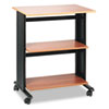 Mobile Machine Cart, 3-Shelf, 29-1/2w x 20d x 35h, Black