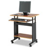 "28"" Wide Adjustable Height Workstation, 22d x 34h, Cherry Laminate"