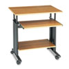 "28"" Wide Adjustable Height Workstation, 22d x 34h, Oak"