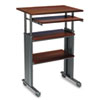 Adjustable Height Stand-Up Workstation, 29w x 22d x 49h, Cherry