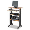Adjustable Height Stand-Up Workstation, 29w x 22d x 49h, Oak