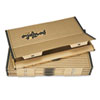 Fiberboard Portfolio w/Metal Turnbuckles, 1-1/8&quot; Cap, 36-1/2 x 24-1/4, Sand/BLK