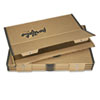 Fiberboard Portfolio w/Metal Turnbuckles, 1-1/8&quot; Cap, 42-1/4 x 30-1/4, Sand/BLK