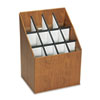 Safco Corrugated Roll Files, 12 Compartments, 15w x 12d x 22h, Woodgrain