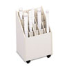 Safco Laminate Mobile Roll Files, 20 Compartments, 15-1/4w x 13-1/8d x 23-1/4h, Putty