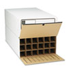 Tube-Stor Roll File, Storage Box, 24 x 37-1/2 x 12, White, 2/Ctn