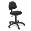 Safco Precision Desk-Height Swivel Chair, Black Fabric
