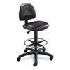 Safco Precision Extended Height Swivel Stool w/Adjustable Footring, Black Vinyl