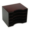 Safco Wood Stackable Literature Sorter, Five Sections, 11 5/8 x 9 1/2 x 9, Mahogany