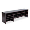Safco Single Shelf Desktop Organizer, 15 Sections, 57 1/2 x 12 x 18, Mahogany