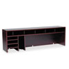 Safco High-Clearance Desktop Organizer, 12 Sections, 57 1/2 x 12 x 18, Mahogany