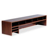 Safco Low-Profile Desktop Organizer, 10 Sections, 57 1/2 x 12 x 12, Medium Oak