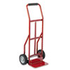 Safco Two-Wheel Steel Hand Truck, 300lb Capacity, 18 x 44, Red
