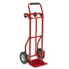 Safco Two-Way Convertible Hand Truck, 500-600lb Capacity, 18w x 51h, Red