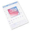 AT-A-GLANCE Recycled Monthly Wall Calendar, Blue and Red,15 1/2