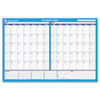 Recycled 30/60-Day Undated horizontal Erasable Wall Planner, 48 x 32, Blue/White