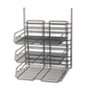 Panelmate Triple-Tray Organizer, 13 1/2 x 17 1/4, Charcoal Gray