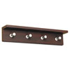 Wood Wall Rack, 4 Hook, Mahogany