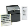 Safco Steel Suggestion/Key Drop Box with Locking Top, 7 x 6 x 8 1/2