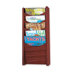 Safco 4330MH Solid Wood Wall-Mount Literature Display Rack, 11-1/4w x 3-3/4d x 24h, Mahogany SAF4330MH SAF 4330MH