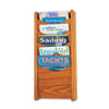 Safco 4330MO Solid Wood Wall-Mount Literature Display Rack, 11-1/4 x 3-3/4 x 24, Medium Oak SAF4330MO SAF 4330MO