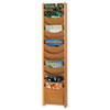 Safco 4331MO Solid Wood Wall-Mount Literature Display Rack, 11-1/4 x 3-3/4 x 48, Medium Oak SAF4331MO SAF 4331MO