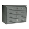 Four-Drawer Computer Disk/Data Cabinet, 37w x 17-1/2d x 27-3/4h, Charcoal