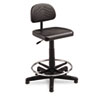 Safco TaskMaster Series EconoMahogany WorkBench Chair, Black